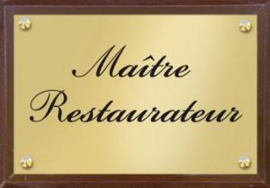 Plaque Maître Restaurateur de Jean-François Pech, chef du restaurant Au Fil de L'Eau Montauban