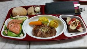 Plateau repas élaboré par Jean-François Pech chef du Restaurant Au Fil de L'Eau à Montauban